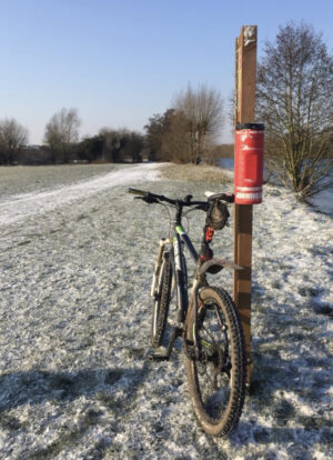 Cycling to work through work