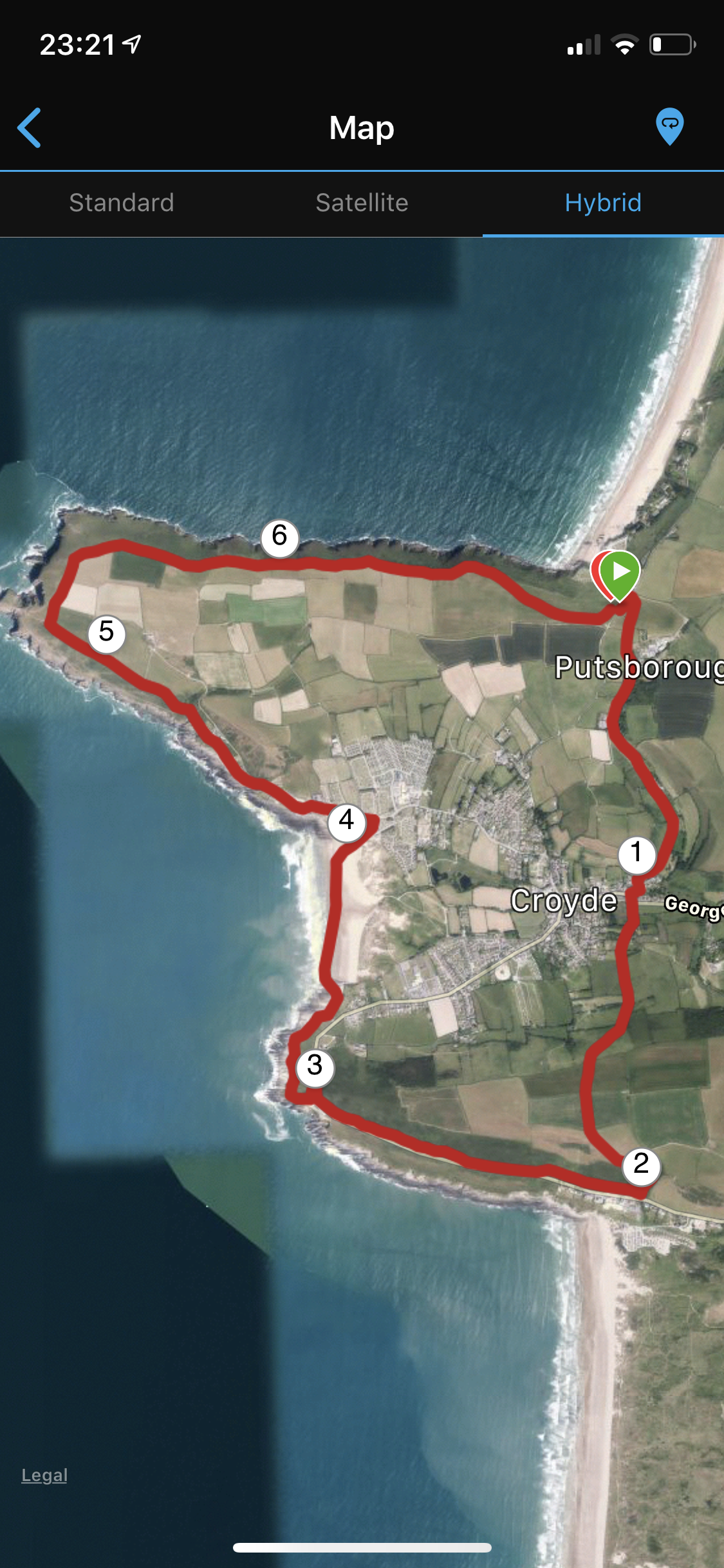 Croyde Ocean Triathlon Run Course