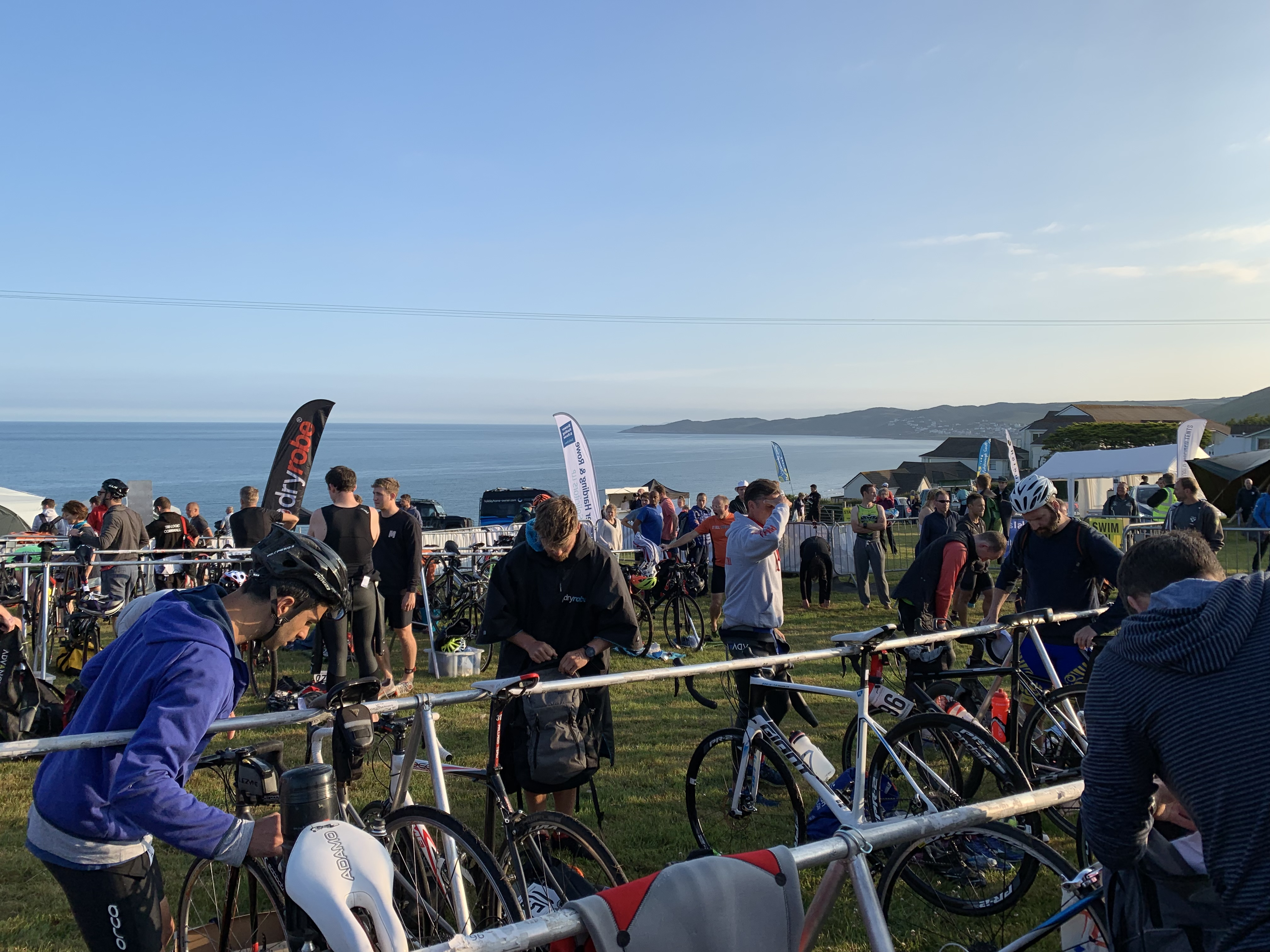 Croyde Ocean Triathlon Transition Area