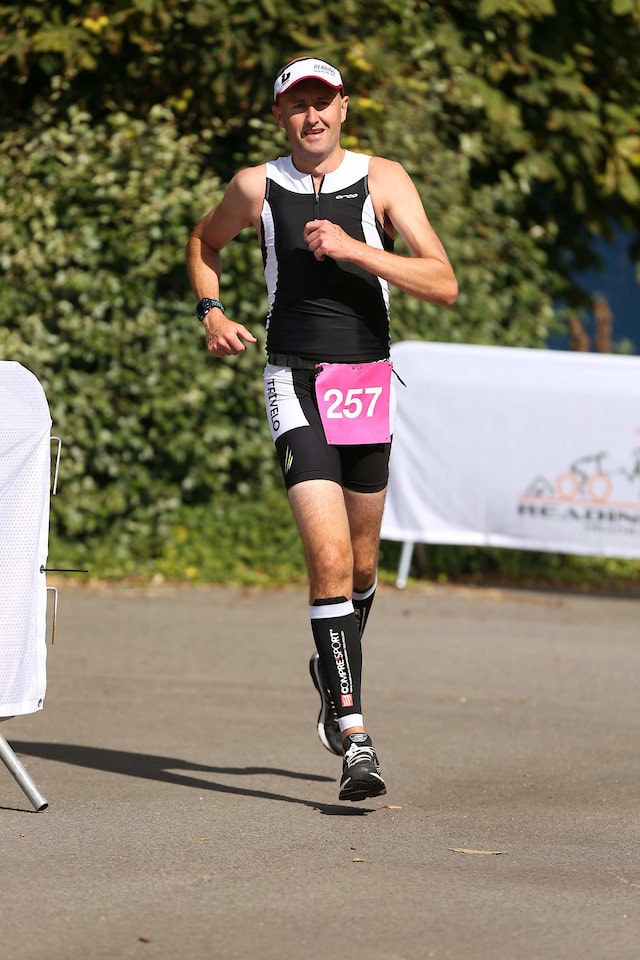 Running in the 2019 Reading Triathlon