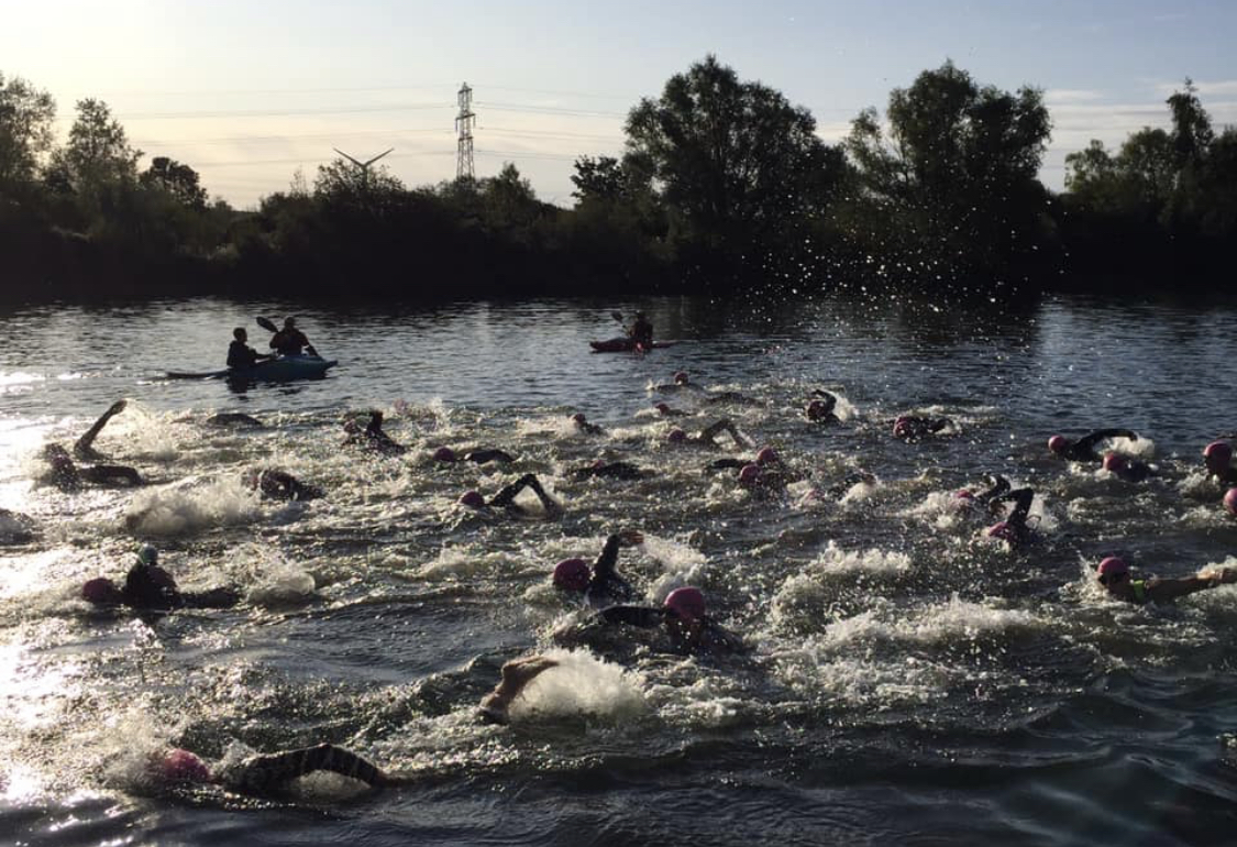 Open water swimming in a wetsuit