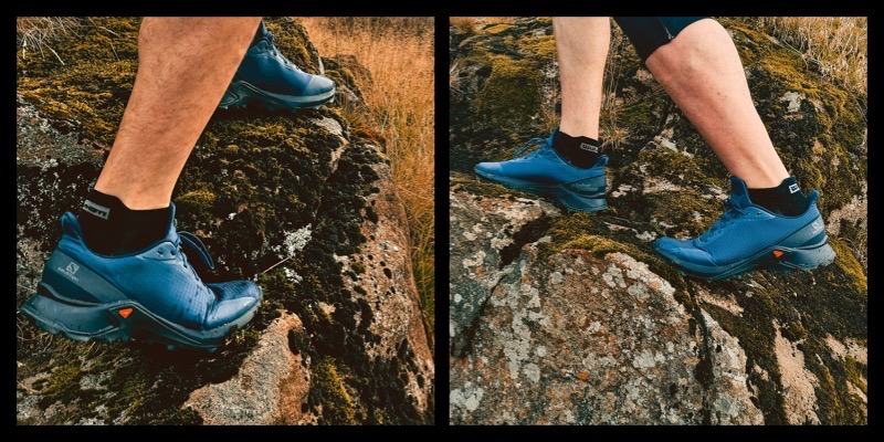 Trail running in the Salomon Alpha Cross