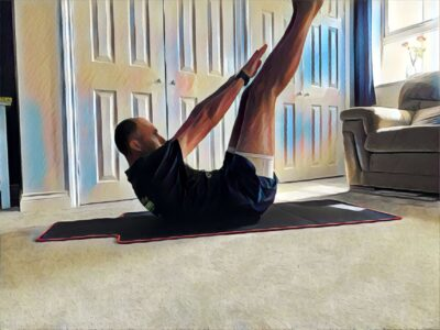 Inverted Toe Touches Core workout
